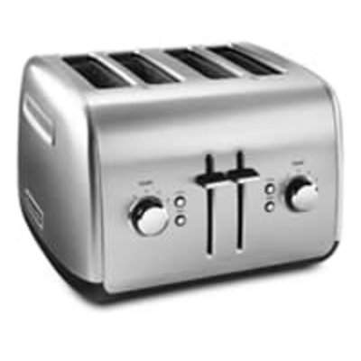 KITCHENAID Brushed Stainless Steel 4-Slice Toaster With Manual High-Lift Lever