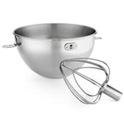 KITCHENAID Stainless Steel 3-Qt. Stainless Steel Bowl & Combi-Whip