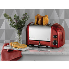 DUALIT Newgen Grille-Pain 4 Tranches Apple Candy Red Toaster