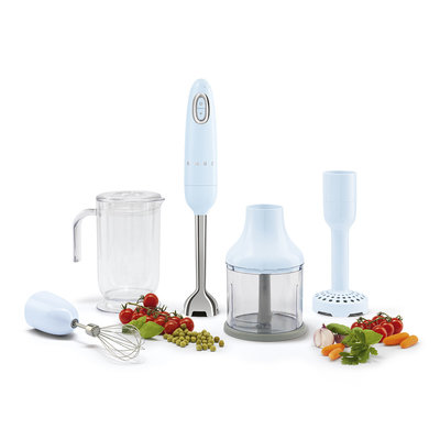 SMEG Hand Blender 50'S Style Pastel Blue, Including Attachments