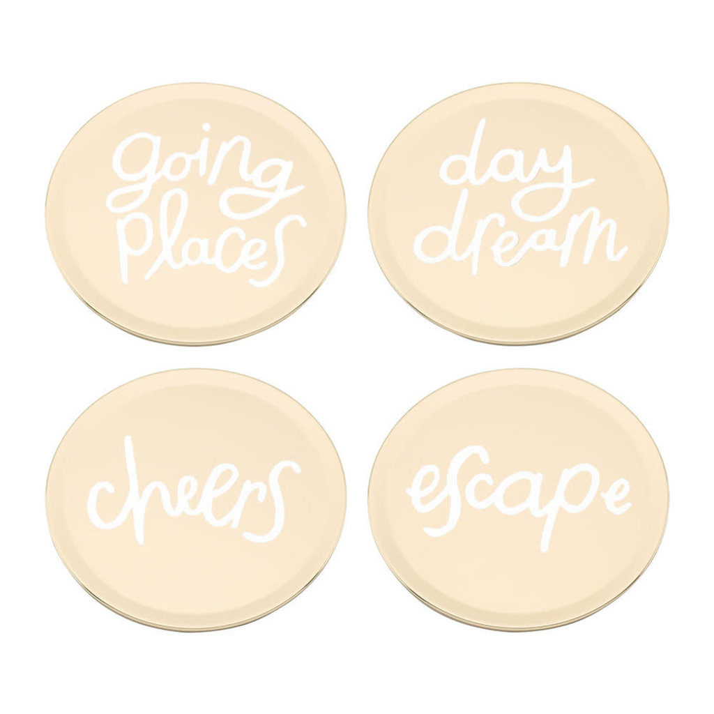 KATE SPADE All That Glistens Ensemble De 4 Sous-Verres - 3.75""