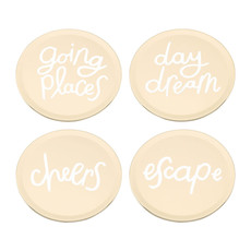 KATE SPADE All That Glistens Coaster Set Of 4 - 3.75""