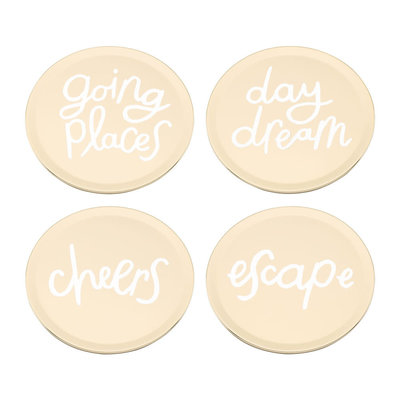 """KATE SPADE All That Glistens Coaster Set Of 4 - 3.75"""""""