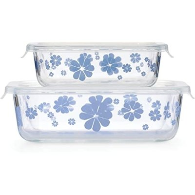 KATE SPADE Ksk Nolita Blue Rectangular Dish With Lid Set/2