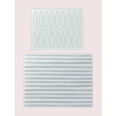 "KATE SPADE Ksk Charlotte Street Cutting Board Grey Set Of 2 - 8"" - 10.25"""