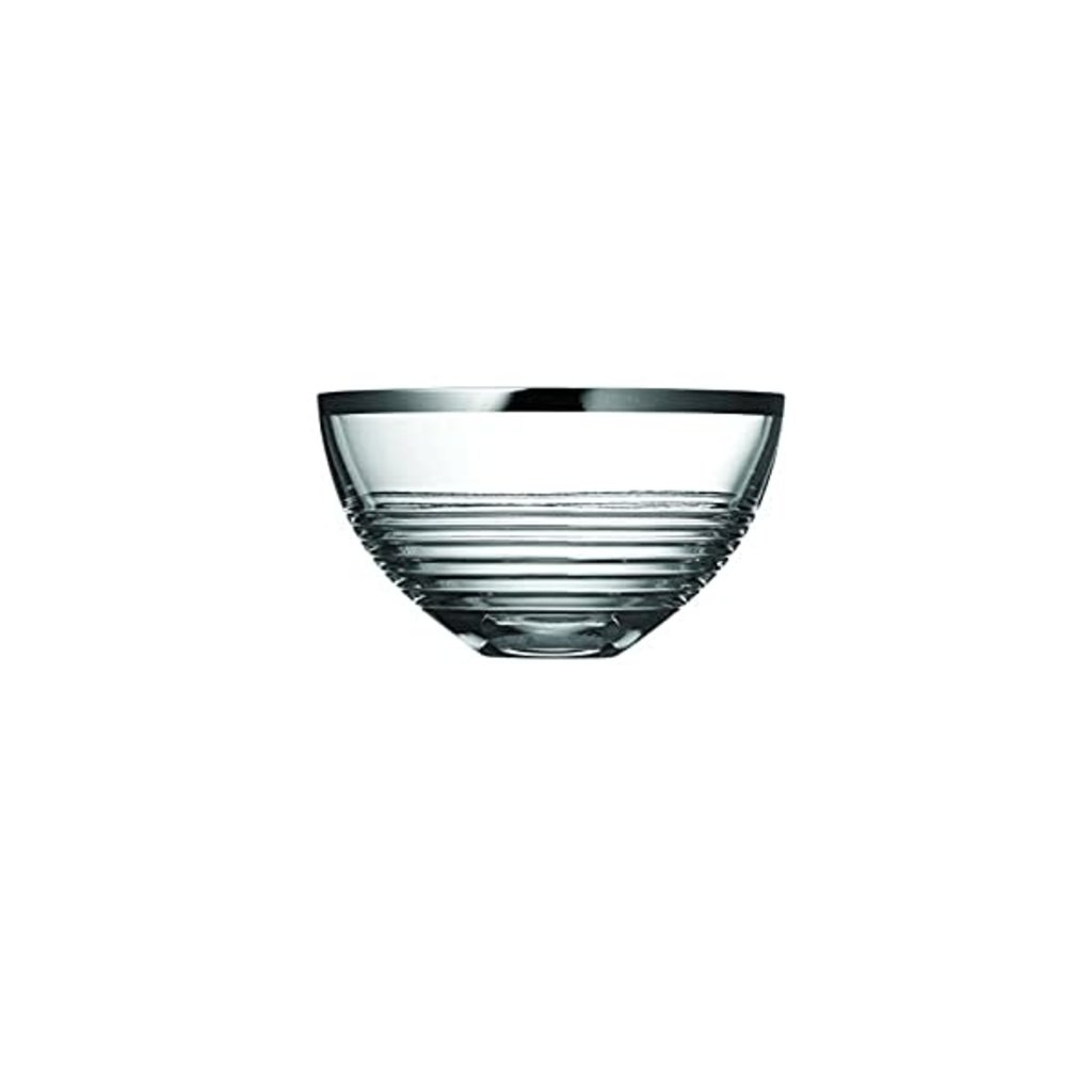 WEDGWOOD Vera Wang Grosgrain Nouveau Bowl Crystal 8''