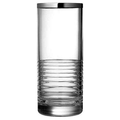 WEDGWOOD Vera Wang Grosgrain Nouveau Vase Crystal 10''