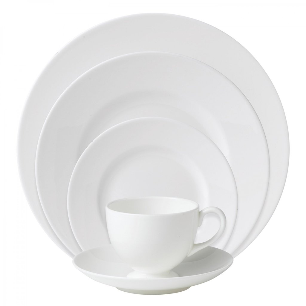 WEDGWOOD Night & Day 5 Piece Place Setting Whiteware