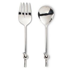 "ABBOTT Knot Handle Salad Server 10.5"""