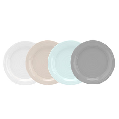 PORTMEIRION Sophie Conran Plate Assorted Colors Set/4 - 6''