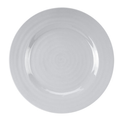 PORTMEIRION Sophie Conran Grey Dinner Plate 11''