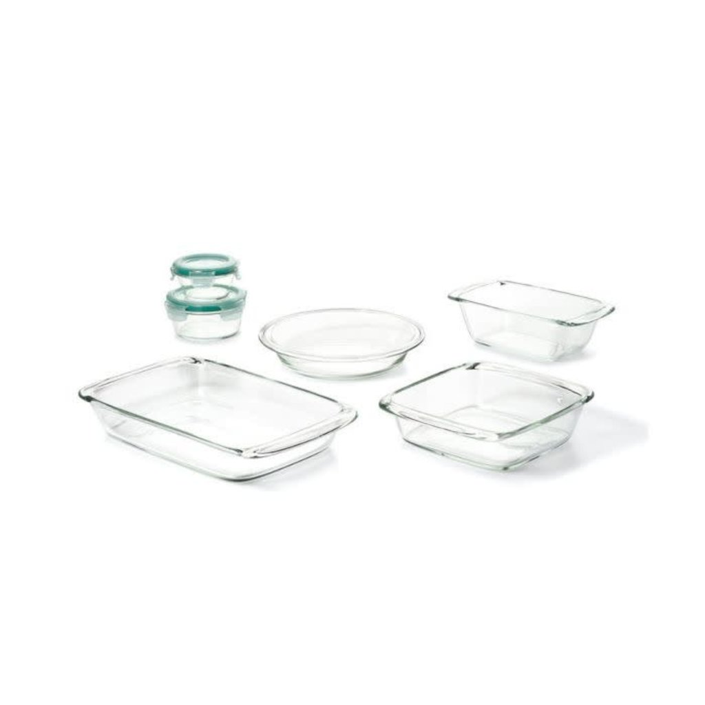OXO Glass Bake Serve & Store Set Of 8 Pieces