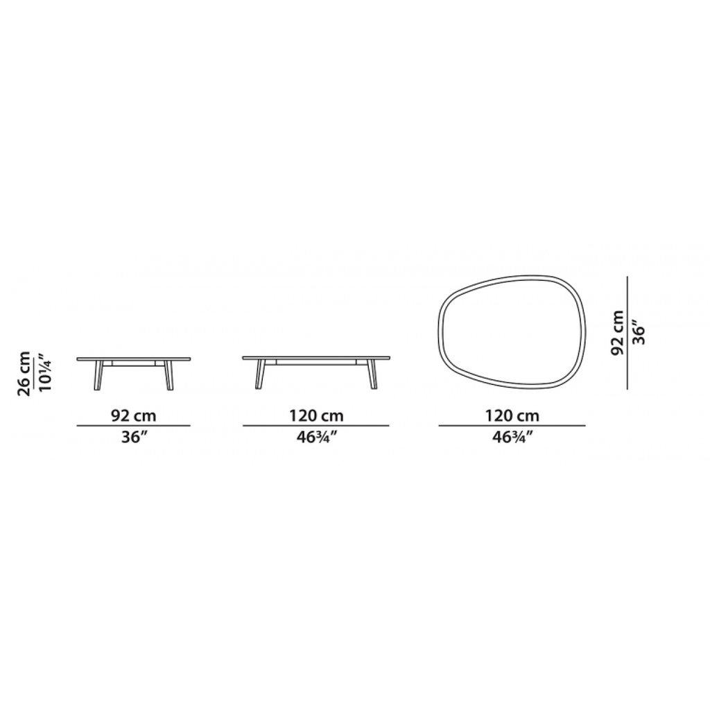 BAXTER Vietri Table Basse Marbre Blanc 120 X 92''