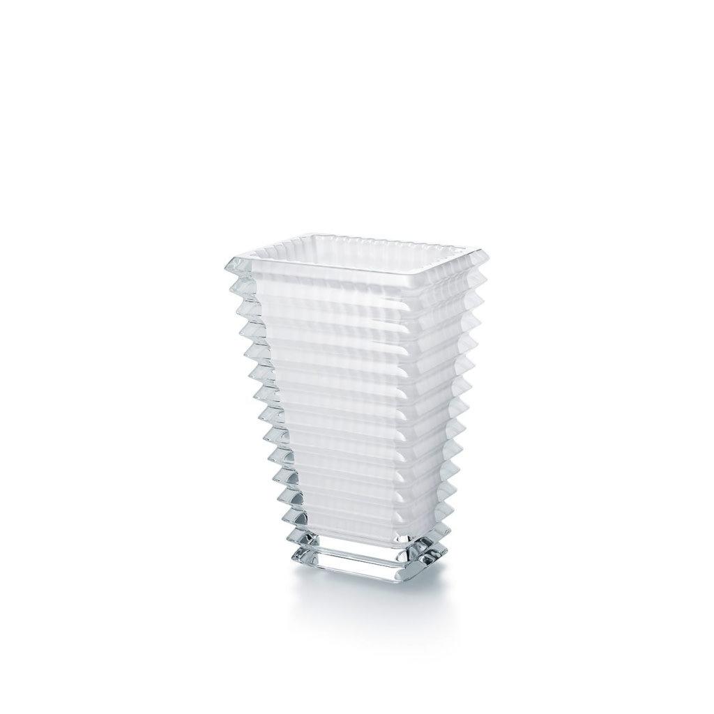 BACCARAT Eye Vase Rectangular 200 White