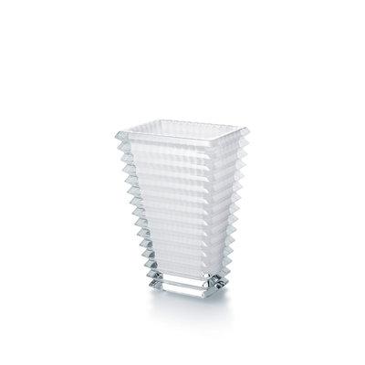 BACCARAT Eye Vase Rectangular Small White