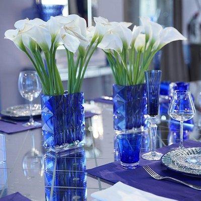 BACCARAT Louxor Vase Blue 7 7/8 H