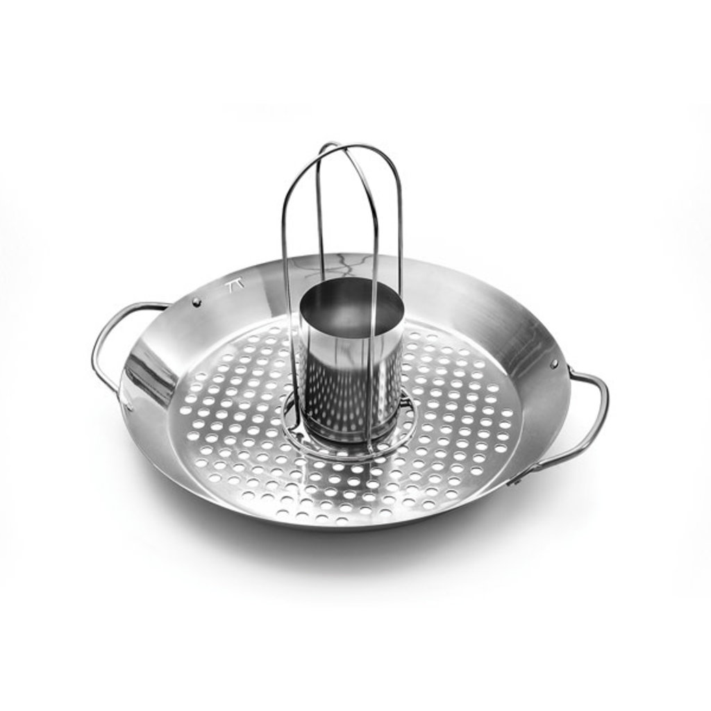 FOX RUN Roasting Wok 2 In 1 Stainless Steel 16 X 12 X 1.5''