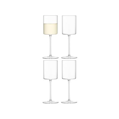 LSA Otis White Wine Glasses Set/4