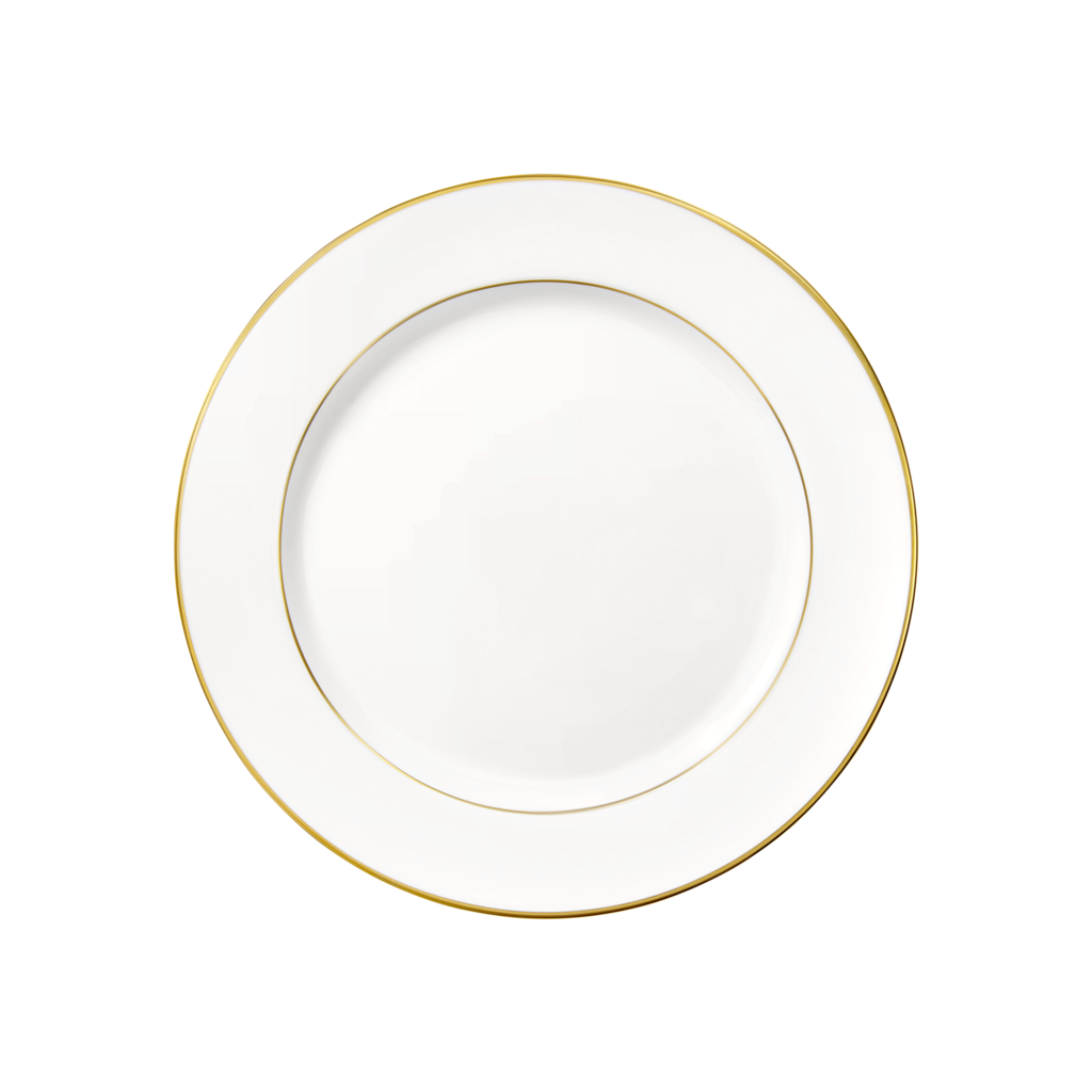 CHRISTOFLE Albi Salad / Dessert Plate Porcelain Gold 8 1/4''