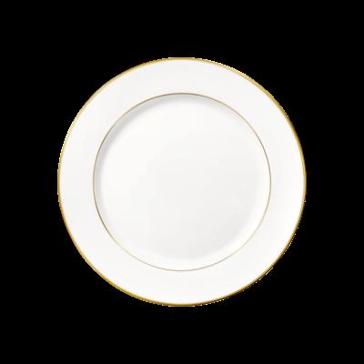 CHRISTOFLE Albi Assiette À Dessert / Gâteaux En Or Et Porcelaine Chaque 8 1/4''