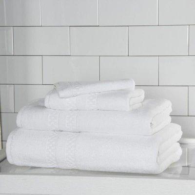 FRETTE Checkerboard Hand Towel White Single 19 X 32''