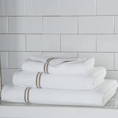 FRETTE Hotel Classic Lavette Blanc / Khaki 12 X 12''