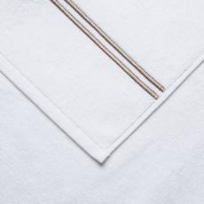 FRETTE Hotel Classic Hand Towel White / Khaki 19 X 30''