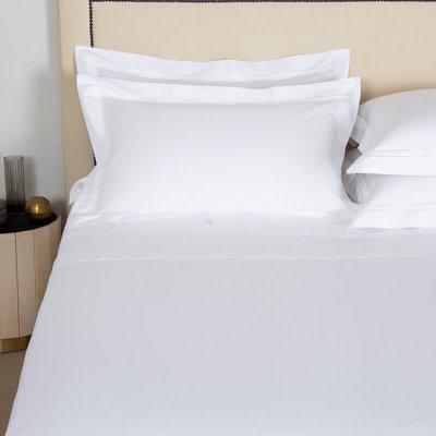 FRETTE Tre Bourdon Couvre-Oreiller Standard Blanc / Blanc