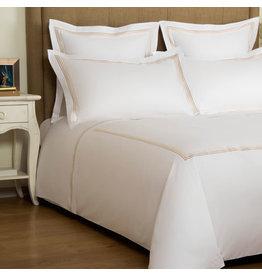 FRETTE Hotel Cruise Queen Duvet Cover White / Beige 230 X 230''