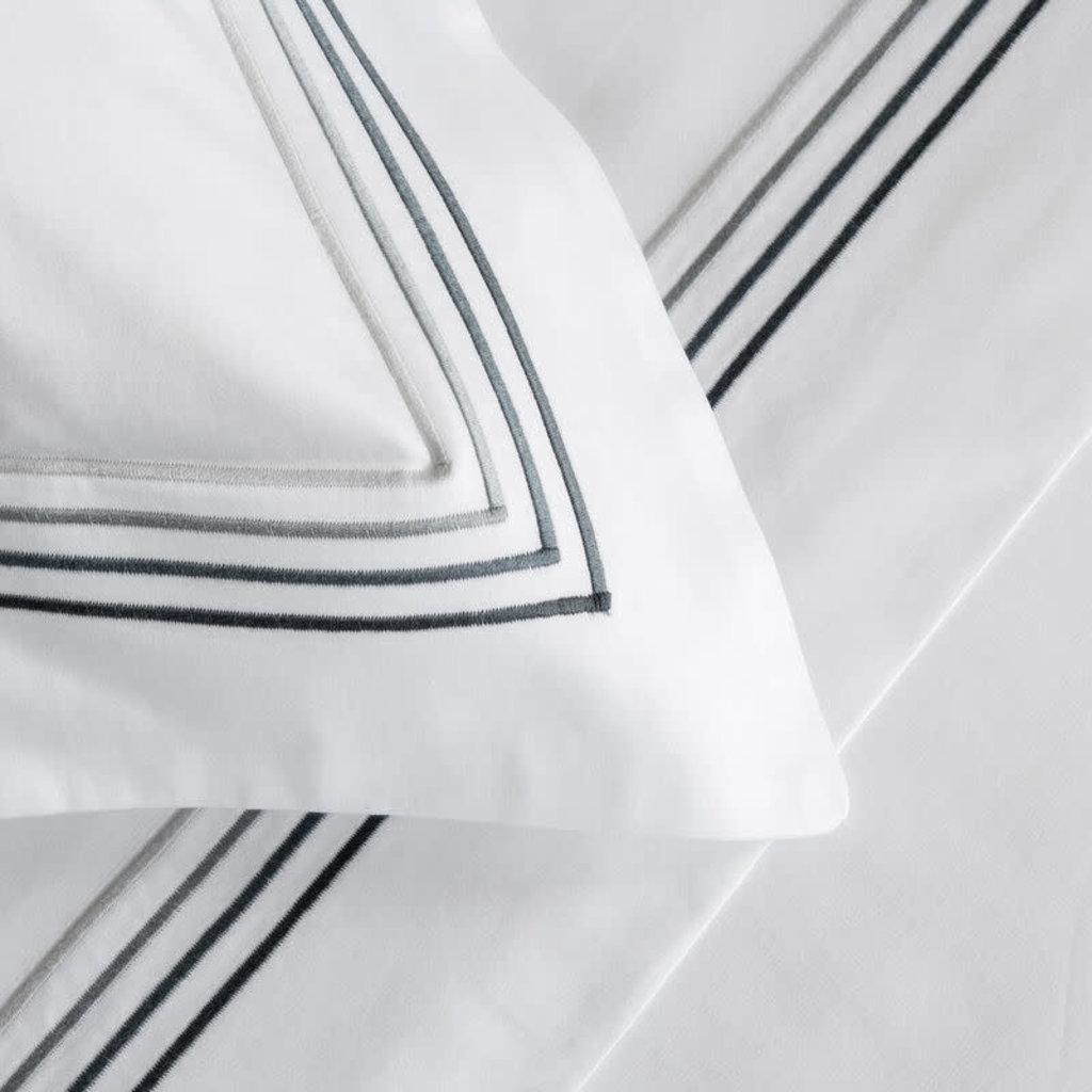 FRETTE Hotel Cruise Queen Housse De Couette Blanc / Gris 230 X 230''