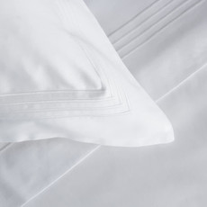 FRETTE Hotel Cruise Queen Duvet Cover White / White 230 X 230''