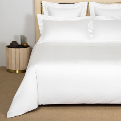 FRETTE Single Ajour Sateen Queen Duvet Cover Ivory