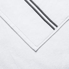 FRETTE Hotel Classic Serviette À Mains Blanc / Gris 19 X 30''