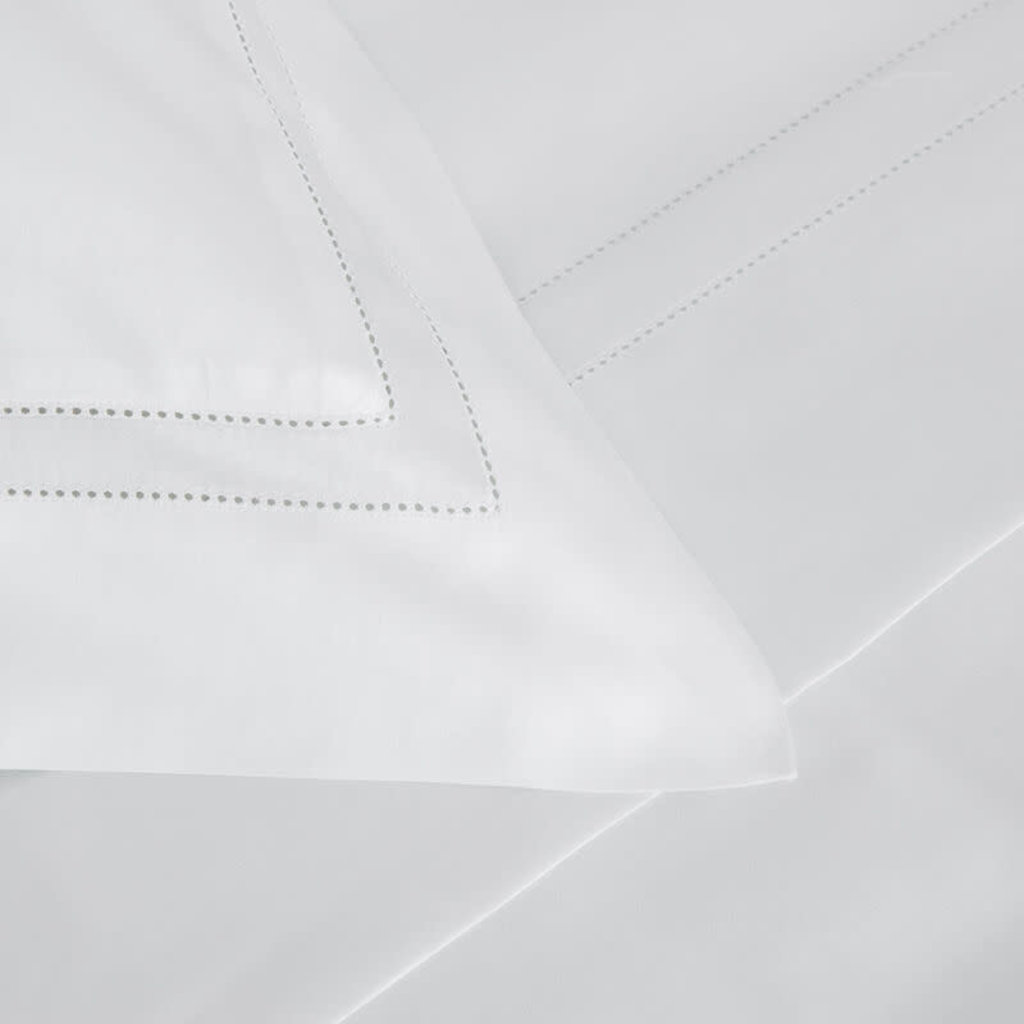 FRETTE Doppio Ajour Ensemble De Draps Queen Blanc 240 X 305''