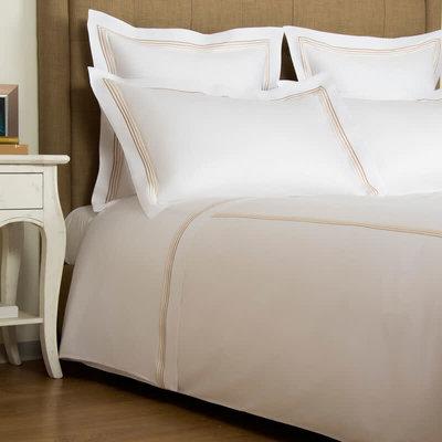 FRETTE Hotel Cruise Queen Ensemble De Draps Blanc / Beige 240 X 305''