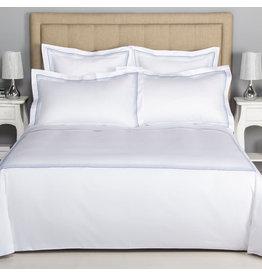 FRETTE Hotel Cruise Queen Duvet Cover White / Sky Blue 230 X 230''