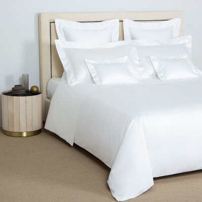 FRETTE Single Ajour Queen Duvet Cover White 230 X 230''