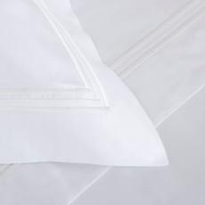FRETTE Tre Bourdon Duvet Cover King White / White