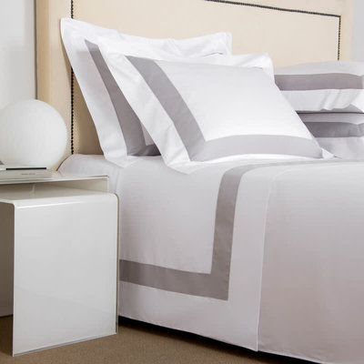 FRETTE Bicolore Queen Bedset White / Grey Cliff 240 X 305''