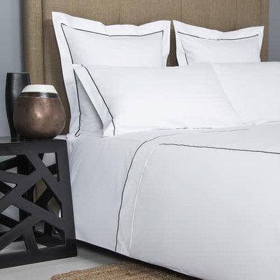 FRETTE Hotel Bianco Bourdon Housse De Couette Queen Blanc / Gris