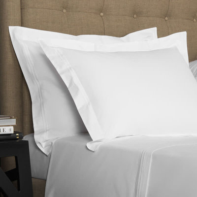 FRETTE Hotel Classic Couvre-Oreiller Standard Blanc / Blanc