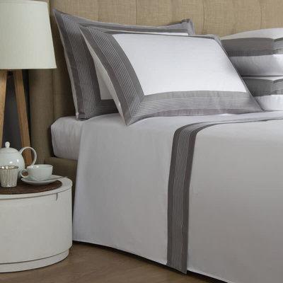 FRETTE Hotel Porto Queen Ensemble De Draps Blanc / Gris 240 X 305''