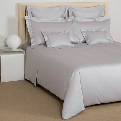 FRETTE Single Ajour Sateen King Housse De Couette Grey Cliff