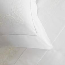 FRETTE Granada Ricamo Couvre-Oreiller Standard Blanc / Ivoire