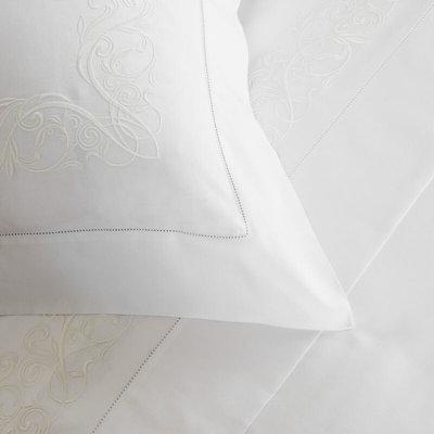 FRETTE Granada Ricamo Standard Sham White / Ivory