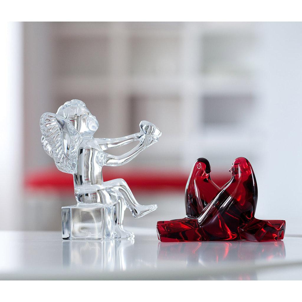 BACCARAT Cherubs Holding Heart Figurine
