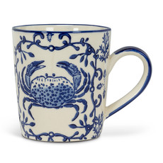 "ABBOTT Seaside Crab Stamp Mug 4"" - 12Oz"