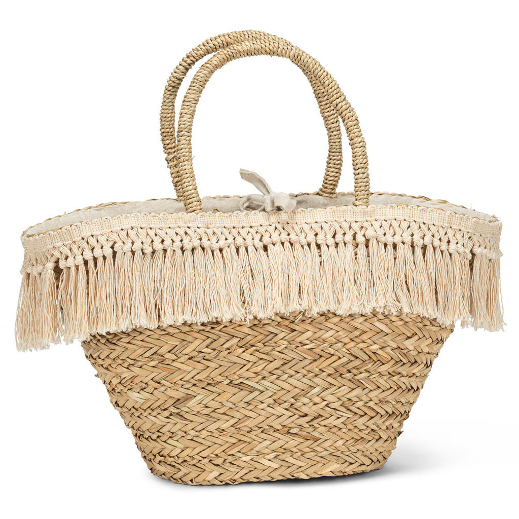 """ABBOTT Tote With Natural Fringe 20"""""""