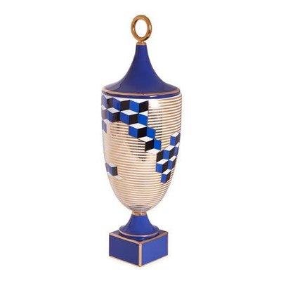 JONATHAN ADLER Versailles Cubes Vase Bleu
