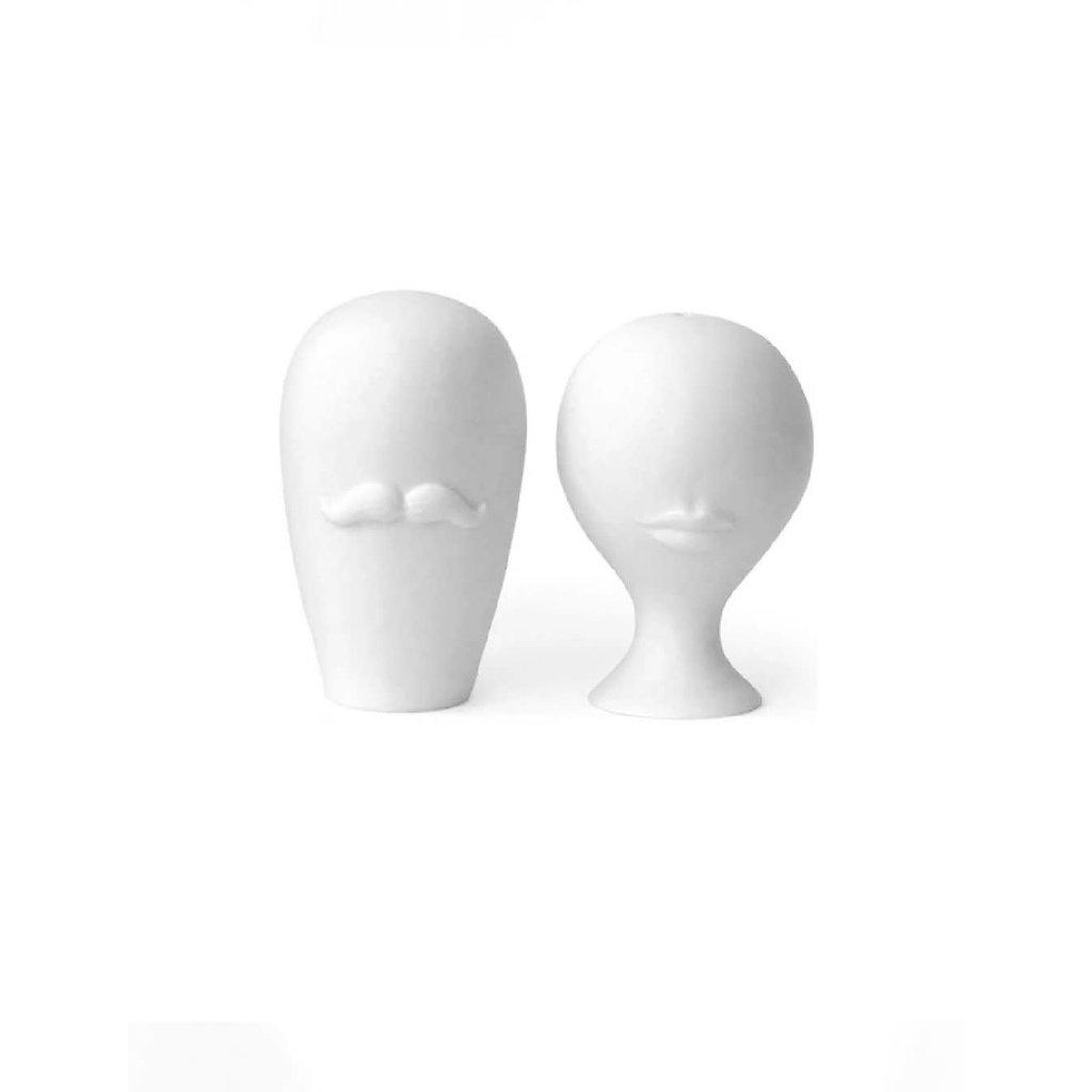 JONATHAN ADLER Muse Mr & Mrs Salt & Pepper Shakers White